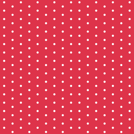 Christmas Star White Dots on Red