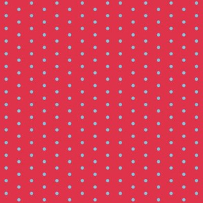 Christmas Star Blue Dots on Red