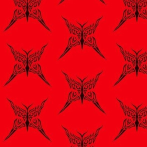 Tribal Butterfly (red)