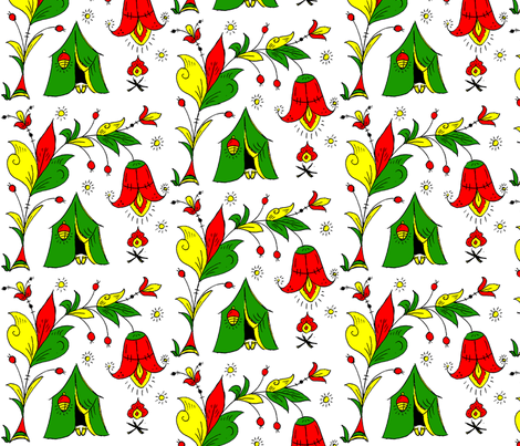 Under Tulip Camping fabric by svetlanamolchanova on Spoonflower - custom fabric
