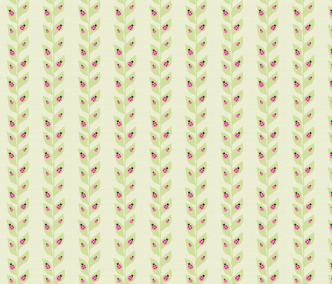Pink Ladybugs fabric by arttreedesigns on Spoonflower - custom fabric