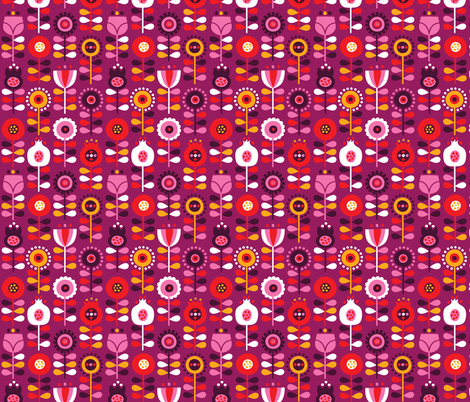 scandinavianflowers fabric by bora on Spoonflower - custom fabric