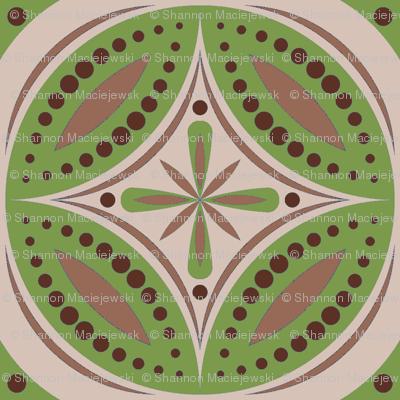 Moroccan Tiles (Olive/Beige)