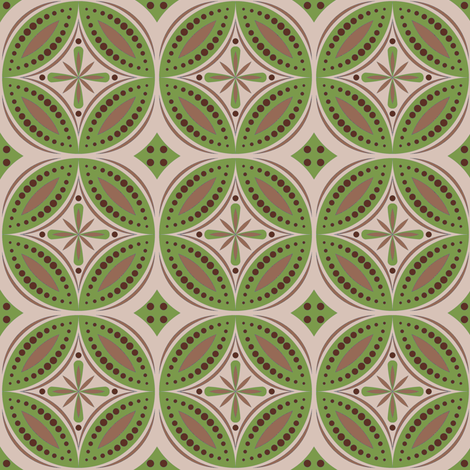 Moroccan Tiles (Olive/Beige) fabric by shannonmac on Spoonflower - custom fabric