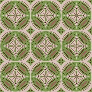 Moroccan Tiles (Olive/Beige)