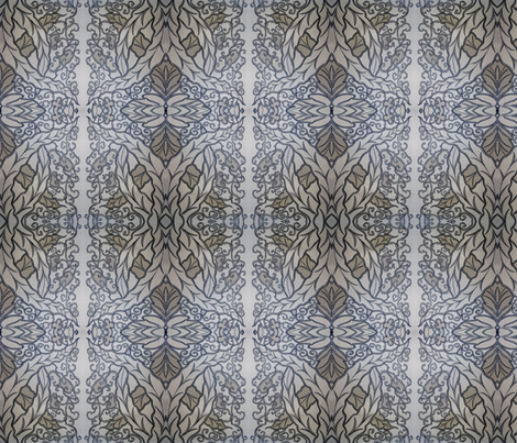 leaf_design-ed fabric by penelopeventura on Spoonflower - custom fabric