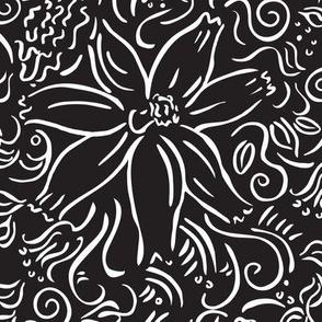 black/white garden