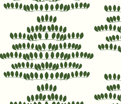 Berlin leaf fabric by mirja_and_mauno on Spoonflower - custom fabric