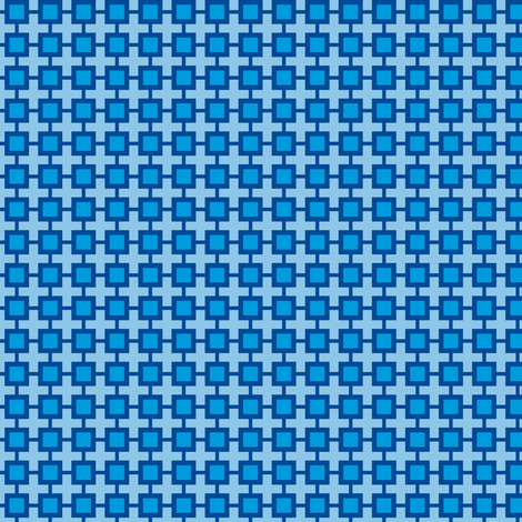 Family Feud (Blue) fabric by shannonmac on Spoonflower - custom fabric