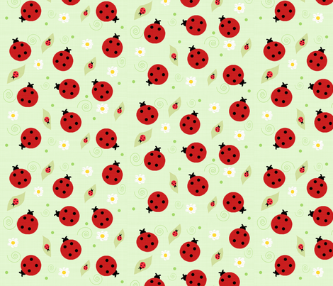 Ladybugs fabric by arttreedesigns on Spoonflower - custom fabric