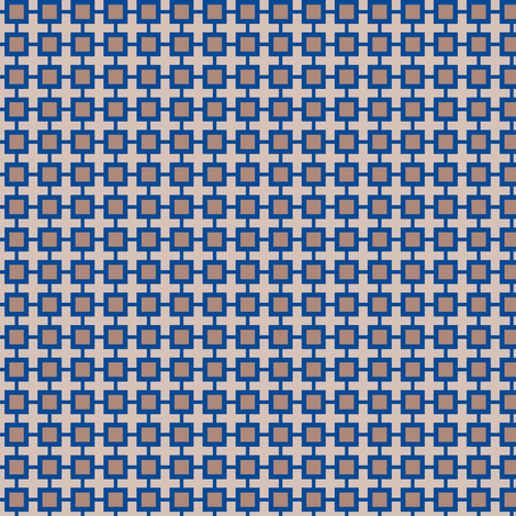 Family Feud (Blue/Beige) fabric by shannonmac on Spoonflower - custom fabric
