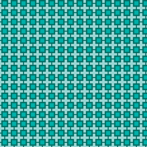 Family Feud (Blue-green) fabric by shannonmac on Spoonflower - custom fabric