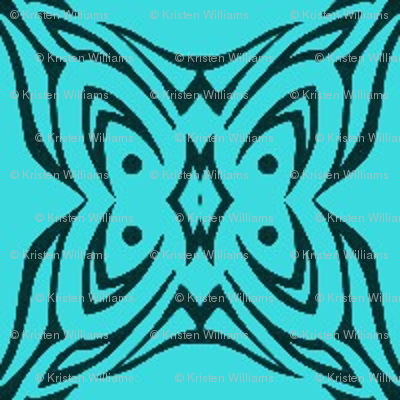 Butterfly Cushion (Aqua)