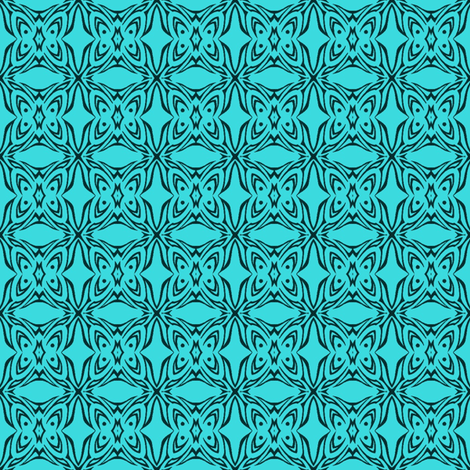 Butterfly Cushion (Aqua) fabric by ladyleigh on Spoonflower - custom fabric
