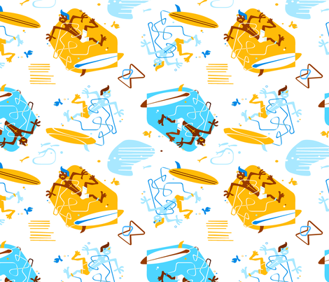 Kook Surf 1 fabric by muhlenkott on Spoonflower - custom fabric