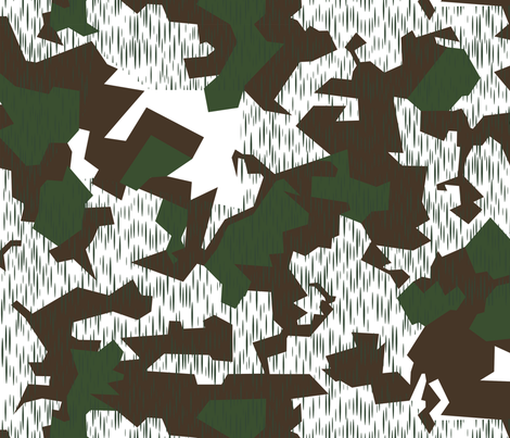 FJ Splinter B Snow Camo fabric by ricraynor on Spoonflower - custom fabric