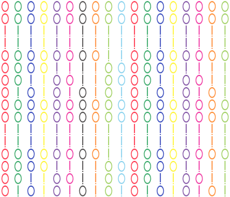 numbers candychain fabric by veerapfaffli on Spoonflower - custom fabric