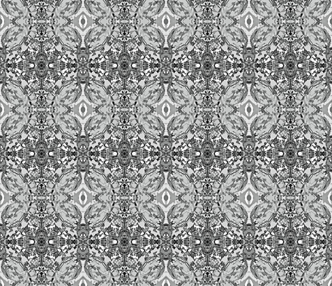 Fire Wood Kaleioscope - B&W fabric by tequila_diamonds on Spoonflower - custom fabric