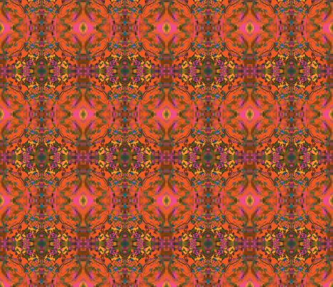 Psychedelic Campfire fabric by tequila_diamonds on Spoonflower - custom fabric