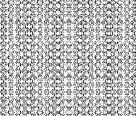Tribal Coins (black and white) fabric by ladyleigh on Spoonflower - custom fabric