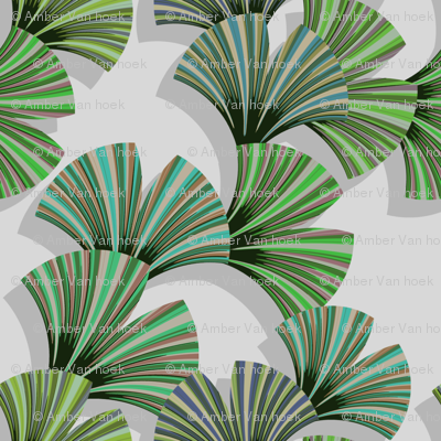 gingo leaf fabric