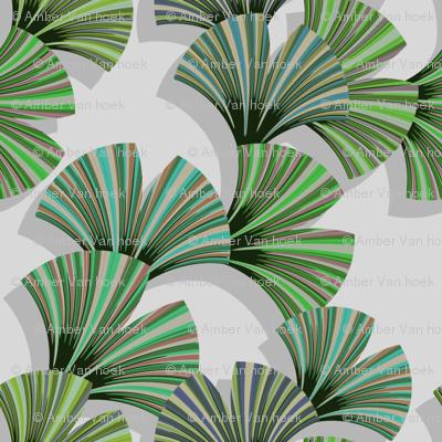 gingo leaf fabric