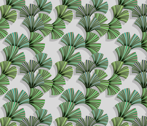 gingo leaf fabric fabric by lilichi on Spoonflower - custom fabric