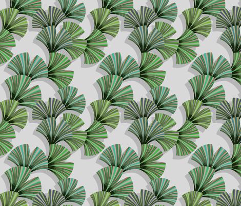 gingo leaf fabric fabric by lilichi on Spoonflower - custom fabric