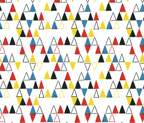 Abstract triangle  fabric by chulabird on Spoonflower - custom fabric