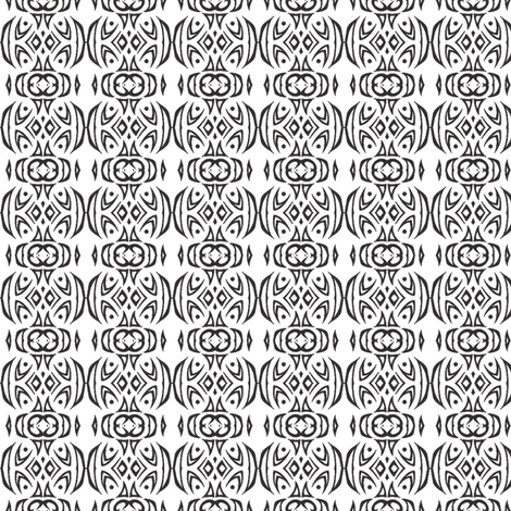 Tribal Stripes (black and white) fabric by ladyleigh on Spoonflower - custom fabric