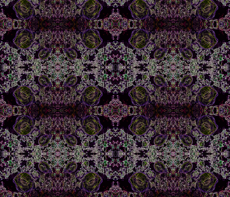 Wood Cut Kaleidoscope - Invert fabric by tequila_diamonds on Spoonflower - custom fabric