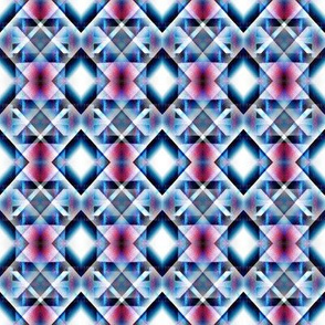 Blue and Pink Diamond Pattern