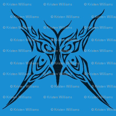 Tribal Butterfly (blue)