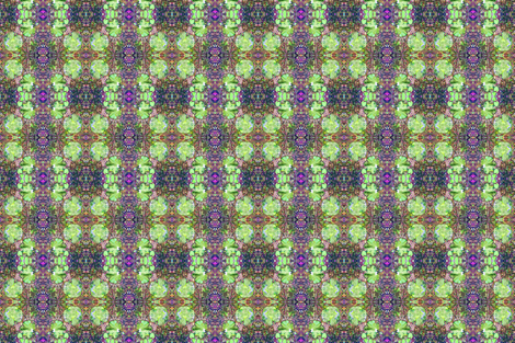 Fungi Kaleidoscope 2 - Meadow fabric by tequila_diamonds on Spoonflower - custom fabric