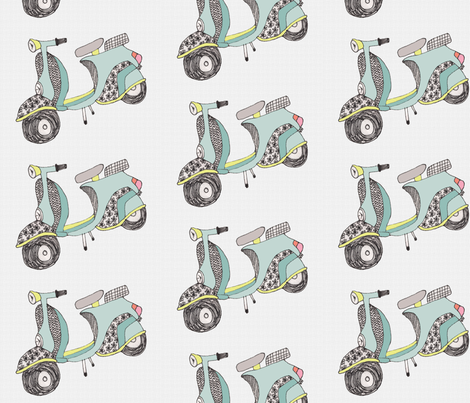 grey vespa fabric by pistoldaisie on Spoonflower - custom fabric