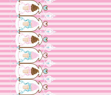 Ice Cream Dream fabric by frostedfleurdelis on Spoonflower - custom fabric