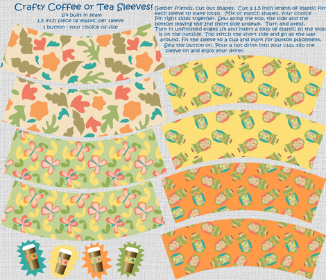 Crafty Coffee or Tea Sleeves! fabric by vo_aka_virginiao on Spoonflower - custom fabric