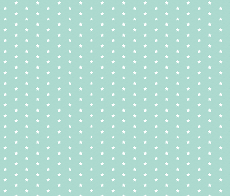 Mini Stars in Mint fabric by thistleandfox on Spoonflower - custom fabric