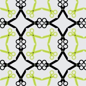 Rotating Black/Lime Scissors