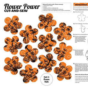 Fabric Flower Cut-and-Sew Project