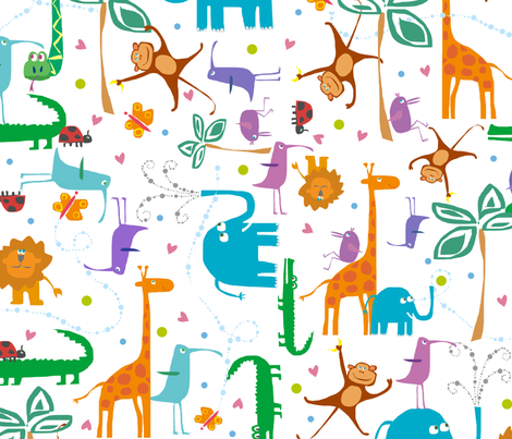 jungle fabric by musterartig on Spoonflower - custom fabric
