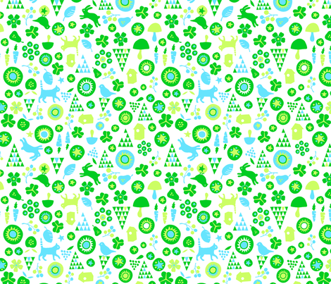 Sweets (green) fabric by pattern_bakery on Spoonflower - custom fabric