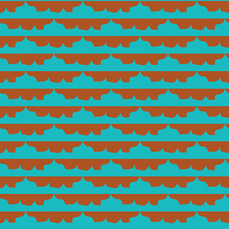 Small Morocco Skyline fabric by boris_thumbkin on Spoonflower - custom fabric