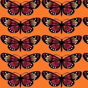 Bohemian Butterflies in Tangerine