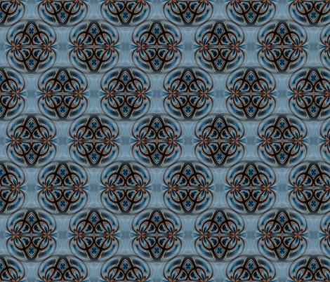 Glasgow Sunset Symmetry 2 fabric by galleryhakon on Spoonflower - custom fabric