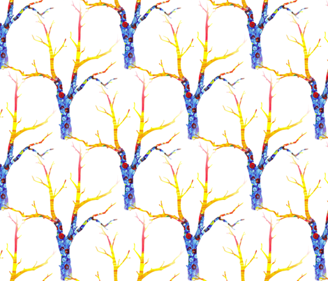 Circus Tree in Winter fabric by anniedeb on Spoonflower - custom fabric