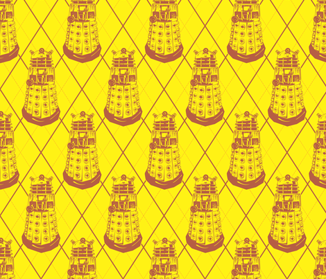Exterminate Arglye fabric by dukeduel on Spoonflower - custom fabric