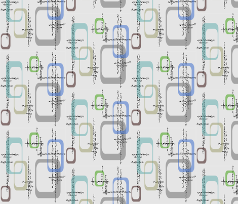 Dusty Squares fabric by retroretro on Spoonflower - custom fabric