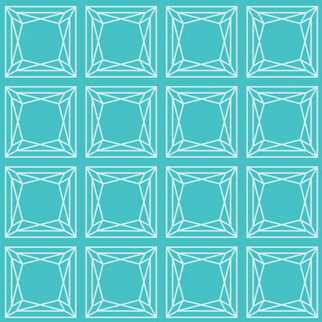 Turquoise Princess fabric by oceanpien on Spoonflower - custom fabric