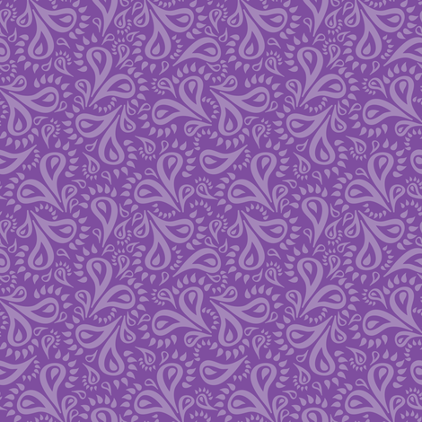 Purple Paisley Flowers fabric by robyriker on Spoonflower - custom fabric